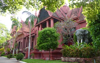 Housing traditional Khmer art and sculture treasures
