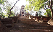 Angkor Wat prototype, 350+ steps to the Wat and superb view