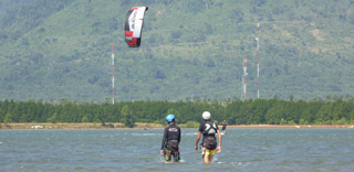 Kite surfing, fishing, flyboarding, windsurfing and kayaks