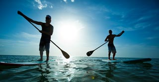 Ko Samui has great conditions and scenery for paddleboarding