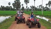 ATV adventure through the Khmer countryside and villages