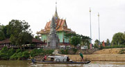 Enjoy the boat ride through rural cambodia to ancient Funan ruins