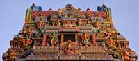 Unmissable kaleidoscope of colours Hindu Temple