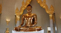 A gleaming 5.5 tonne Golden Buddha image