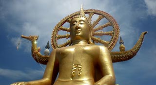The islands most famous monument, a 12-metre Buddha image