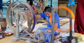 Traditional family-run silk & brass workshops