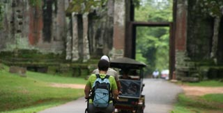 A great green way to see the sights of Angkor