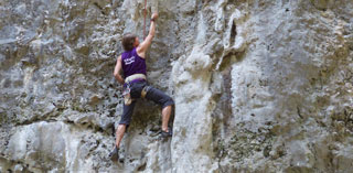 Climbing, abseiling and caving with rewarding views