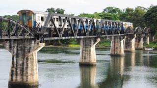 The infamous Bridge Over the River Kwai