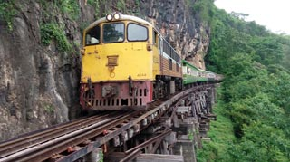 Train over Death Railway Bridge