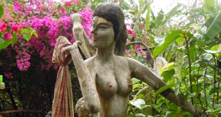 An erotic collection sculptures tucked away in the forest