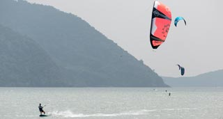 Kiteboarding Around Ko Samui
